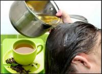 Gội đầu bằng chè xanh – dầu gội thảo dược | Món Miền Trung